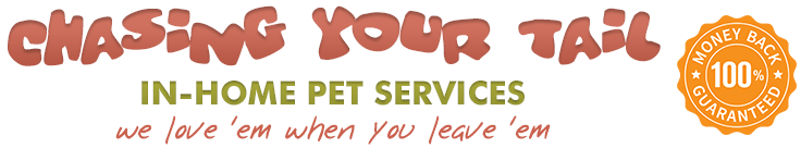 Chasing Your Tail – In-Home Pet Services – Argyle, TX – Mike Moon – 972.743.9616 Logo